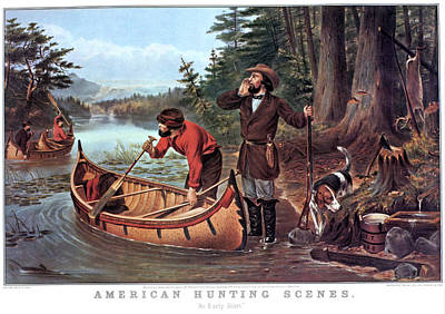 1860s American Hunting Scenes An Early Poster