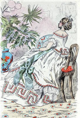 1862, Womens Fashion In Nineteenth-century Paris Poster by Artokoloro