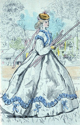 1866, Womens Fashion In Nineteenth-century Paris Poster by Artokoloro