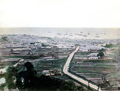 1870 Kobe Japan Panorama Poster
