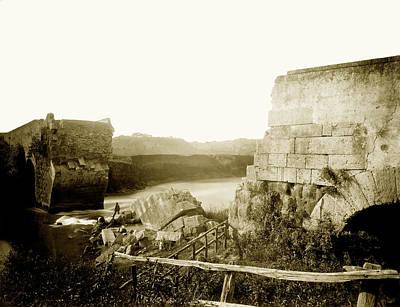 1870 Ruins Of An Italian Bridge Poster