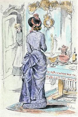 1872, Womens Fashion In Nineteenth-century Paris Poster by Artokoloro