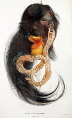 1874 Amazon Macas Indian Shrunken Head Poster