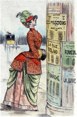 1875, Womens Fashion In Nineteenth-century Paris Poster by Artokoloro