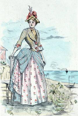 1876, Womens Fashion In Nineteenth-century Paris Poster by Artokoloro