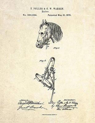 1878 Horse Halter Patent Art Poster