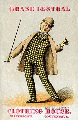 1880 Men's Fashion Poster by Historic Image