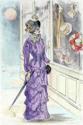 1880, Womens Fashion In Nineteenth-century Paris Poster