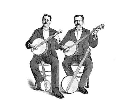 1880s 1890s Two Men Playing Classical Poster