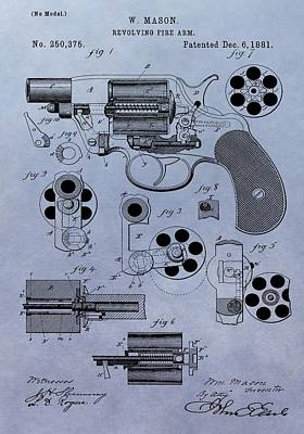 1881 Colt Revolver Patent Poster by Dan Sproul