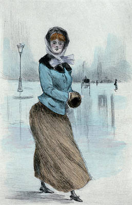 1882, Womens Fashion In Nineteenth-century Paris Poster by Artokoloro