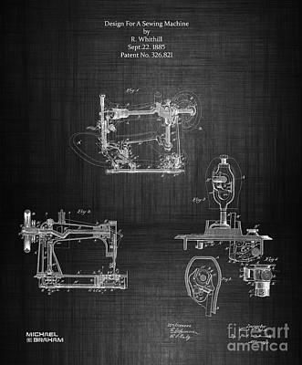 1885 Singer Sewing Machine Poster