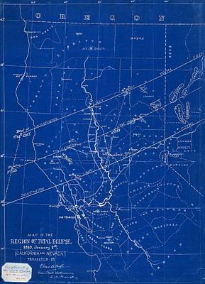 1889 Solar Eclipse Chart, Usa Poster