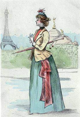1889, Womens Fashion In Nineteenth-century Paris Poster by Artokoloro