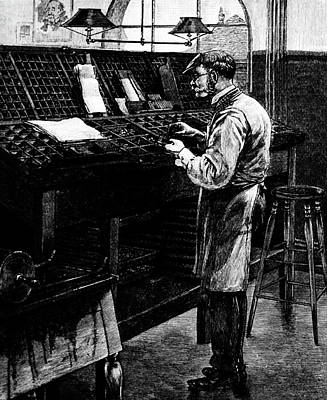 1890s Engraving Of Old Fashioned Hand Poster