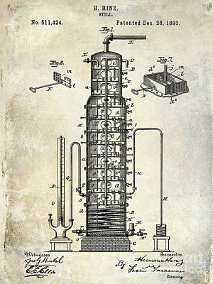 1893 Still Patent Drawing Poster