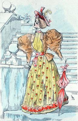 1894, Womens Fashion In Nineteenth-century Paris Poster by Artokoloro