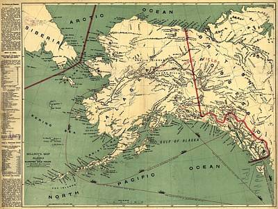 Poster featuring the photograph 1897 Map Of Alaska by Charles Beeler
