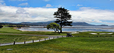 18th At Pebble Beach Panorama Poster