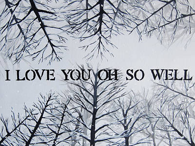18x24 I Love You Oh So Well Poster by Michelle Eshleman