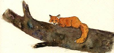 Red Fox Poster by Juan  Bosco