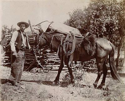 1900 Cowboy Poster