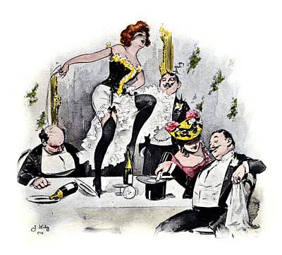 1900 Paris Nightlife No.1 Poster by Historic Image