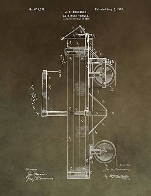 1900 Truck Patent Poster by Dan Sproul