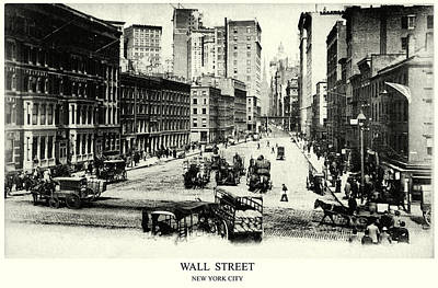 1900 Wall Street New York City Poster