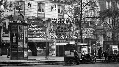 1900s 1910 Street Scene Showing A Kiosk Poster