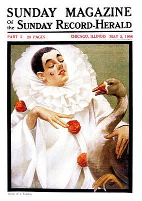1900s Chicago Sunday Magazine Cover Poster