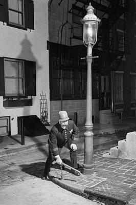 1900s Man Keystone Cop Uniform Standing Poster