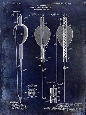 1902 Self Strike Fish Float Patent Poster by Jon Neidert