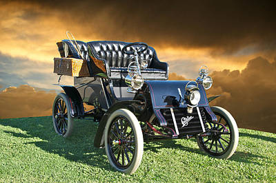 1903 Cadillac A Tonneau Poster by Dave Koontz