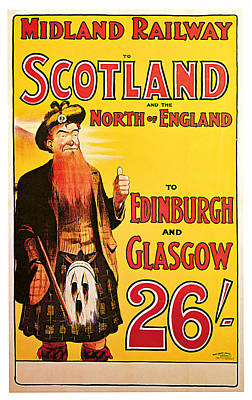 1904 Scotland - Vintage Travel Art Poster by Presented By American Classic Art