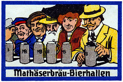 1905 Berlin Beer Hall Poster by Historic Image