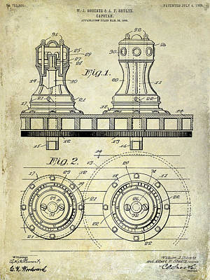 1905 Capstan Patent Drawing Poster