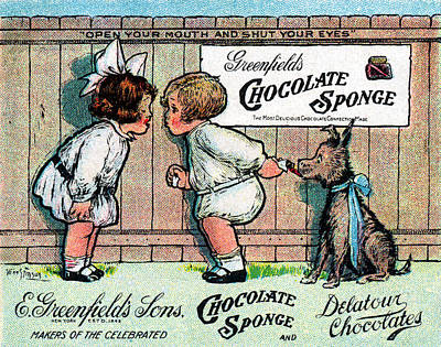 1905 Chocolate Candy Ad Poster
