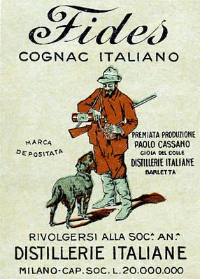 1905 Fides Italian Cognac Poster