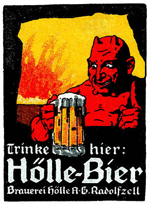 1905 German Beer Poster Poster