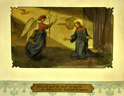 1906 Fresco Painting - Blessed Are The Poor In Spirit Poster by Image Takers Photography LLC - Laura Morgan