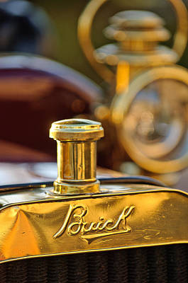 1909 Buick Model F Touring Hood Ornament Poster by Jill Reger