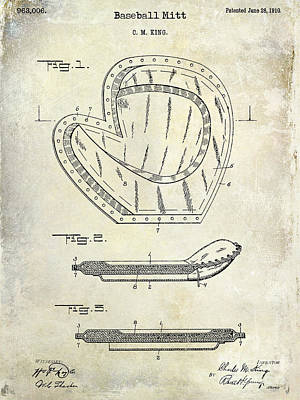 1910 Baseball Patent Drawing Poster by Jon Neidert