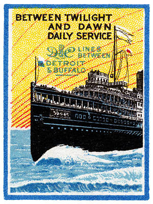 1910 Detroit To Buffalo Steamship Poster by Historic Image