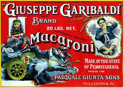 1910 Garibaldi Macaroni Poster