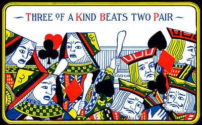 1910 Three Of A Kind Poster