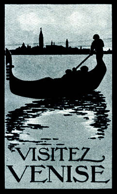 1910 Visit Venice Poster Poster by Historic Image