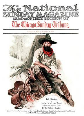 1910s 1914 Sunday Magazine Chicago Poster