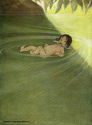 1910s 1916 Illustration From The Water Poster