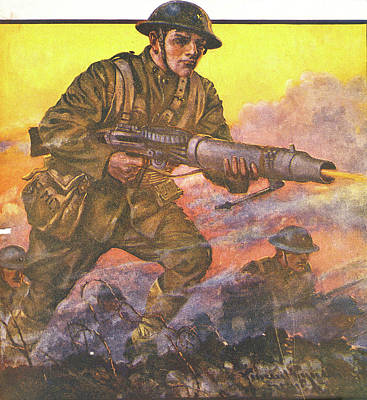 1910s 1918 Painting Titled The Man Poster